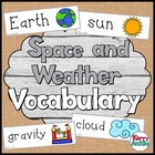 Space and Weather Vocabulary Cards
