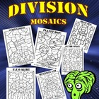 Spaced Out! Division Mosaics- Color By Division Fact Fun!