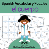 Spanish Body Vocabulary, Magic Squares Puzzle