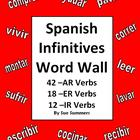 Spanish AR/ER/IR Infinitive Verb Wall Signs - 72 Infinitive Verbs