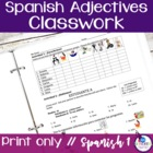 Spanish Adjectives Freebie