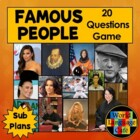 Spanish Adjectives Review Game and Famous Hispanics Resear