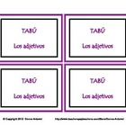 Spanish Adjectives TABU Game Cards