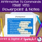 Spanish Affirmative Tú Commands