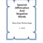 Spanish Affirmative and Negative Words  [revised]