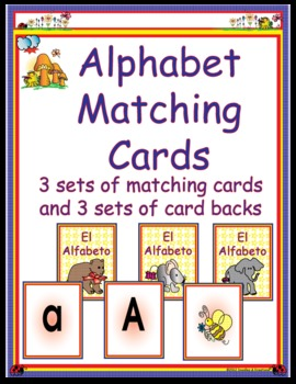Spanish Alphabet Matching Cards
