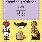 "Spanish Alphabet Vocabulary Handwriting Practice: Letter ""B"""
