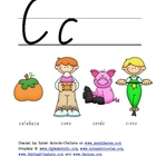 Spanish Alphabet Vocabulary Handwriting Practice: Letter &quot;C&quot;