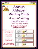 Spanish Alphabet Writing Cards