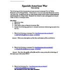 Spanish American War Film Activity