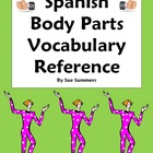 Spanish Body Parts Vocabulary Reference & Study Guide