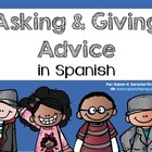 Spanish Bookmarks for asking and giving advice in a conversation