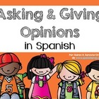Spanish Bookmarks for asking and giving an opinion