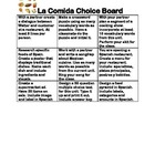 Spanish Choice Board Bundle