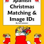 Spanish Christmas Matching Quiz or Worksheet - 31 Words - Navidad