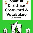 Spanish Christmas Navidad Crossword Worksheet &amp; Vocabulary
