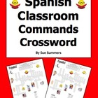 Spanish Class Commands Crossword & Vocabulary - Substitute Lesson