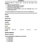 Spanish Class Syllabus Template