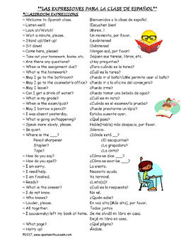 Spanish Classroom Expressions, Conversation, & Cool Sayings Unit