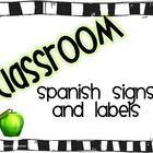 Spanish Classroom Signs and Labels