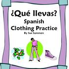 Spanish Clothing 11 Question Responses &amp; 12 Image IDs - La Ropa