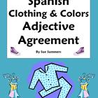 Spanish Clothing &amp; Colors Worksheet - Noun &amp; Adjective Agreement