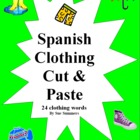 Spanish Clothing La Ropa Cut and Paste / Game Cards