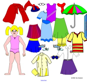 Spanish Clothing Paper Dolls & Other Activities - Smartboa