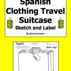 Spanish Clothing Travel Suitcase Sketch &amp; Label - La Ropa