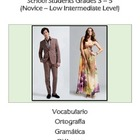 Spanish Clothing Vocabulary La Ropa