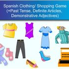 Spanish Clothing/Shopping Game SMART Response Clickers
