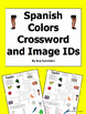 Spanish Colors Crossword & Image IDs - Los Colores