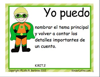 Spanish Common Core Posters-Language Arts