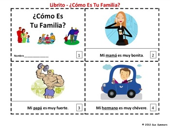 Spanish Como Es Tu Familia Booklet - Family Booklet