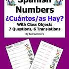 Spanish Cuantos Hay with Numbers and Classroom Objects