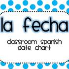 Spanish Date Chart (Polka Dots)