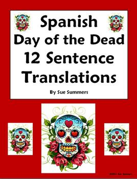 Spanish Day of the Dead / Dia de los Muertos Sentences Homework