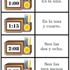 Spanish Digital Time card game