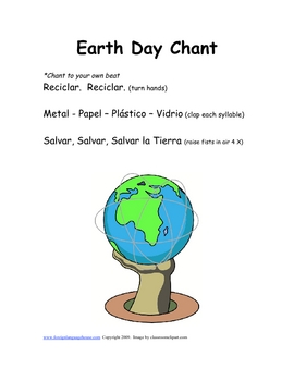 Spanish Earth Day Songs