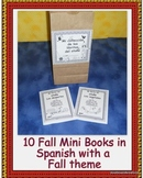 Spanish Fall Mini Guided Reading Books in Black and White