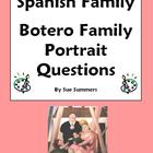 Spanish Family & Artist Botero - 7 Question Worksheet - Fa