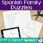 Spanish Family Vocabulary Puzzles