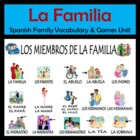 Spanish Family Vocabulary Unit (La familia) - 18 page packet