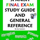 Spanish Final Exam Study Guide &amp; General Reference - 30+ Topics!