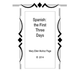 Spanish First Three Days Activities