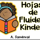 Spanish Fluency Homework for Kinder