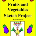 Spanish Fruits and Vegetables Sketch Project