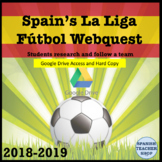 Spanish Futbol Webquest