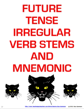 Spanish Future Tense Irregular Verb Signs & Mnemonic