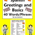 Spanish Greetings, Leave Takings &amp; Basics Vocabulary Refer